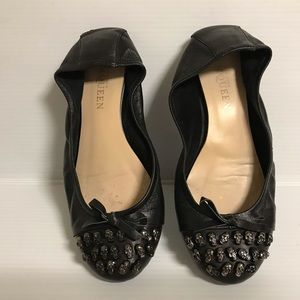 Alexander McQueen flat leather shoes size 38